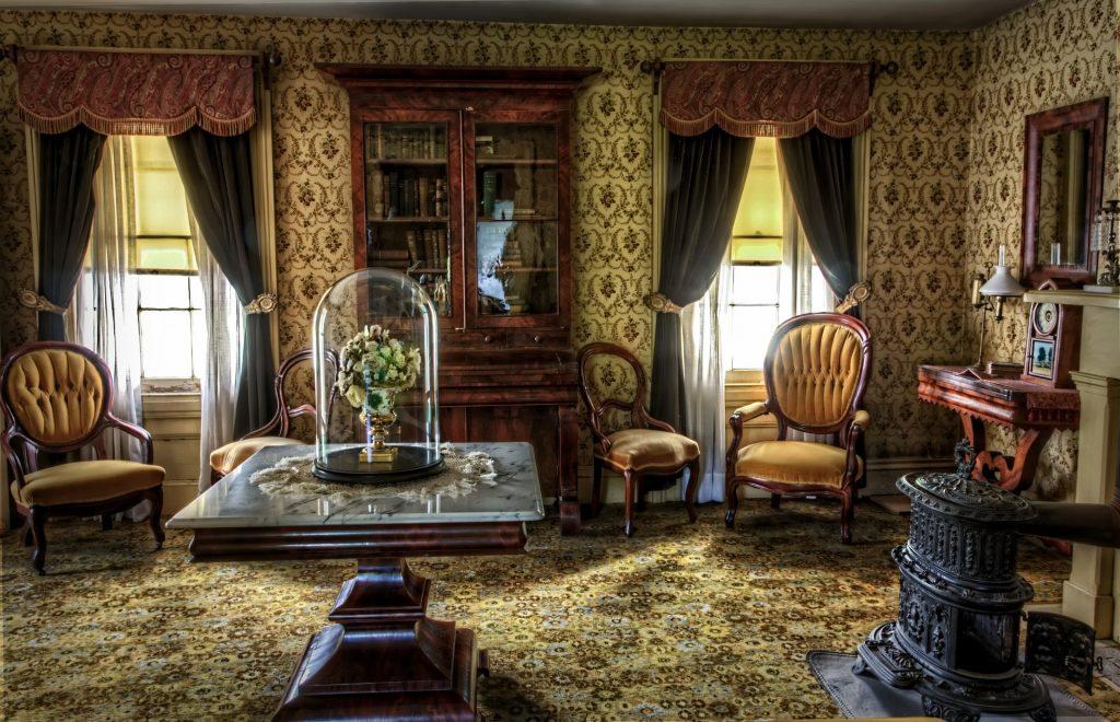 aranżacja salonu w stylu wiktoriańskim